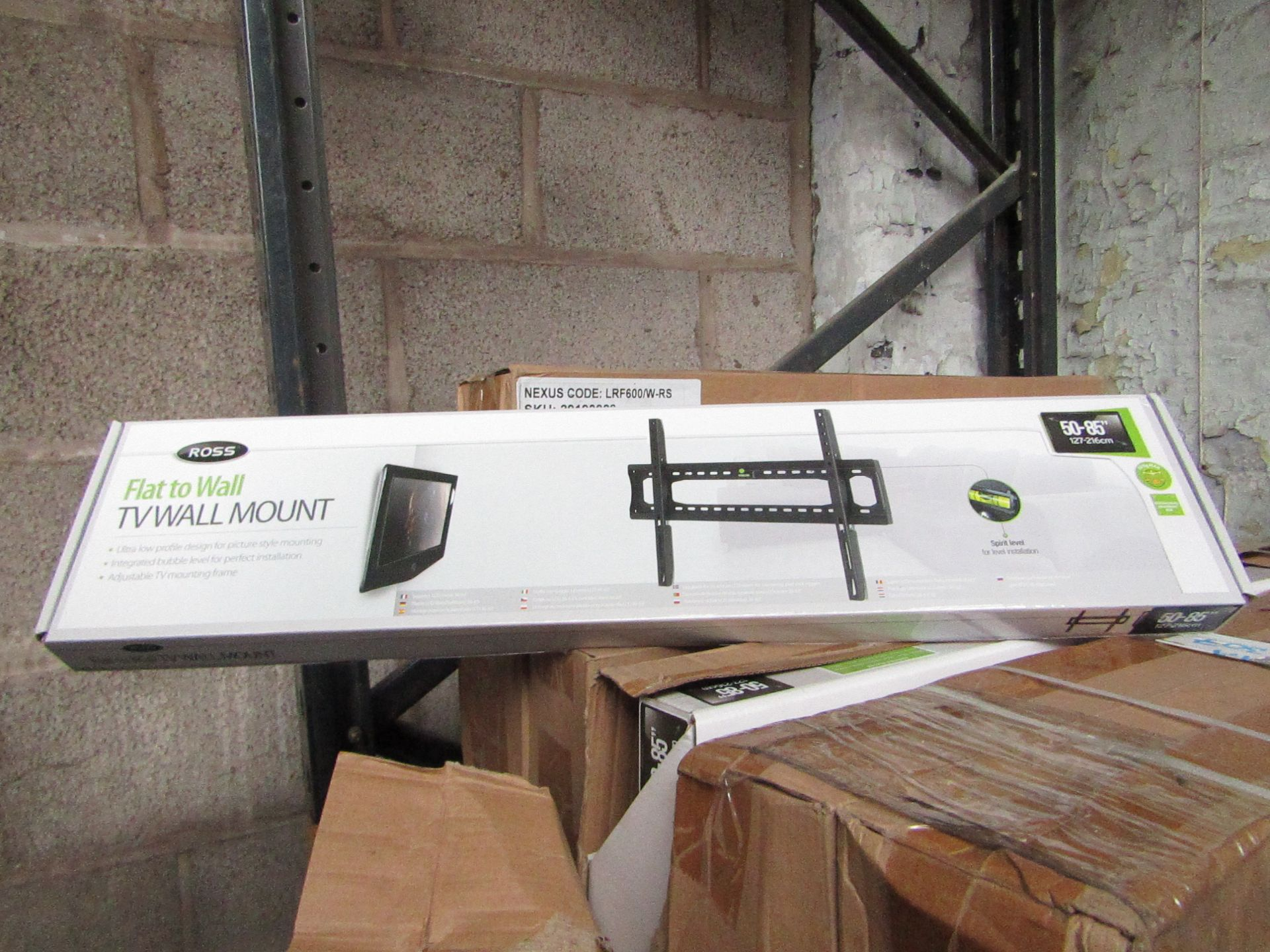 "Lot 178 - 2x Ross - Flat to Wall TV Mount 50 - 85"" - New & Boxed."