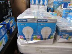 10x Megaman LED Filament lamp, new and boxed. 15,000Hrs / B22 / 470 Lumens