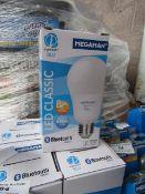 1x Megaman Bluetooth LED bulb, new and boxed. 25,000Hrs / E27 / 810 Lumens