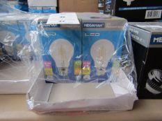 1x Megaman LED Filament bulb, new and boxed. 15,000Hrs / B22 / 470 Lumens