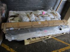 Pallet that looks to contain a Hypnos Mattress and a Bed frame, all unchecked