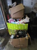 Pallet of approx 400 pieces of various clothing and shoes, these pallets usually contain a mixture