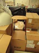 |1 x | HAY SOFT EDGE 70 RED LEG STOOL | BOXED | RRP CIRCA £100 | UNCHECKED NO GUARANTEE |