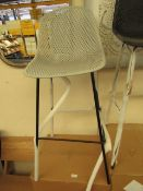 | 1X | COX AND COX GREY AND BLACK HIGH STOOL | UNCHECKED BUT LOOKS UNUSED WITH BOX | RRP CIRCA £
