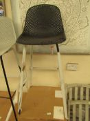 | 1X | COX AND COX BLACK HIGH STOOL | UNCHECKED BUT LOOKS UNUSED WITH BOX | RRP CIRCA £275|
