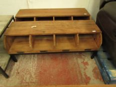 | 1x | COX AND COX RECLAIMED WOOD STORAGE UNIT | HAS A FEW MARKS AND CRACKS BUT NOT SURE IF THAT