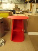|1 x | CHEVET ROUND METAL TABLE | BOXED | SMALL DENT TO ONE SIDE | NO GUARANTEE |