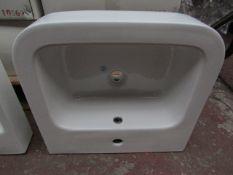 4x Victoria Plumb 1TH basin, new and boxed. VPB19