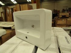 4x Standard wash basin 600 x 440mm, new and boxed. BAS1001