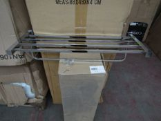 Triple towel rail in chrome, new and boxed.