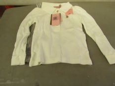 Juicy Couture Girls long sleeve polo shirt, new size 6 years