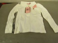 Juicy Couture Girls long sleeve polo shirt, new size 4 years
