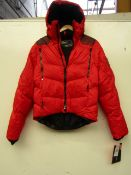 Ralph Lauren Red Super Charger Padded Jacket size S, new but the zip puller has come off, the zip
