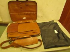 This Is Groud Leather laptop bag with shoulder strap, new