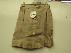 Chole Button Front skirt, new size 12