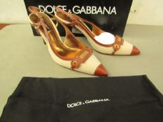 Dolce and Gabbana Yankee sling shoes new size 38.