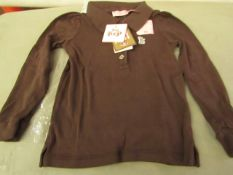 Juicy Couture Girls long sleeve polo shirt, new size 2 years