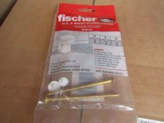 Box of Approx 35+ Fischer - W.C. & Biget Floor Fixing (Pack of 2) - New & Packaged.