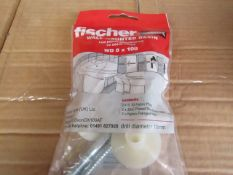 Box 25+ Fischer - Wall Mounted Basin Fixing WD 8 x 100 - New & Packaged.