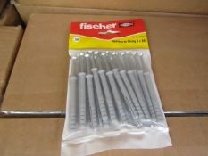 10x Fischer - Hammer-In Fixing 6 x 60 (Packs of 20) - New & Packaged.