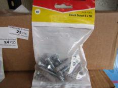 20x Fischer - Coach Screw 6 x 50 (Packs of 10) - New & Packaged.