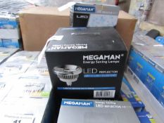 MegaMan Energy Saving LED Reflector Lamp, New and Boxed. 30,000 Hrs / GU10 / 500 Lumens
