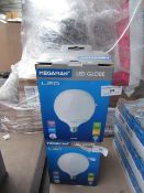 1x Megaman LED globe bulb, new and boxed. 15,000Hrs / E27 / 1521 Lumens