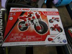 Meccano Junior Mighty Cycles Build Se. Unused