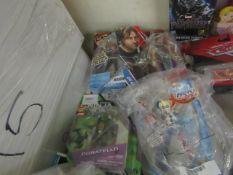 5 Items Being Super Hero Girls & Turtles Figures. Packaging maybe Slightly damaged