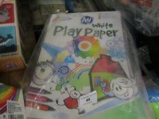6 x Grafix A4 Play paper Books. Unused