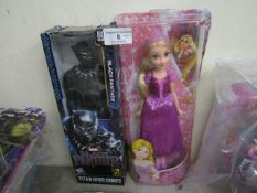 2 Items Being a Black panther Figure & a Disney Princess Fifure. Both Packaged