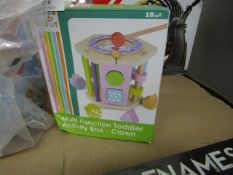 Multi Function Toddler Activity Box - Clown. Unused