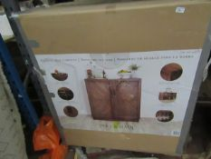 Pike and main Dinks cabinet, still boxed but when we opened the box we can see it has a damaged