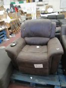 Costco fabric Electric reclining arm chair with heat and masssage, unchecked.