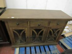 Bayside 3 door, 3 drawer sideboard unit, has a few marks on top.