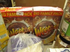 2x Weetos - Chocolatey Hoops Cereal - Boxed & Packaged.