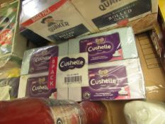 8x Cushelle - Tissues (80 Sheets 4-Ply Tissue) - All Boxed & Packaged.