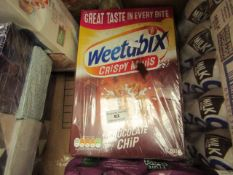 2x Weetabix - Chocolate Chip Crispy Minis 600g - Unused & Boxed.