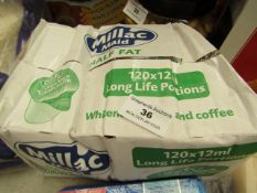 Millac Maid - Half Fat Long Life Whitener For Tea & Coffee (Approx 120 Units of 12ml Each) - Box
