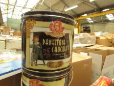 Panettone Chocolate - Chocolate Cake in Tins - BB - 28/04/21 - Sealed.