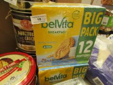 4x Belvita - Milk Cereals (24 Portions) - BB - 31/05/21 - Boxed & Sealed.