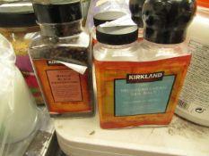 2x Kirkland - Mediterranean Sea Salt (Refillable, Adjustable Ceramic Grinder) - Sealed. 1x
