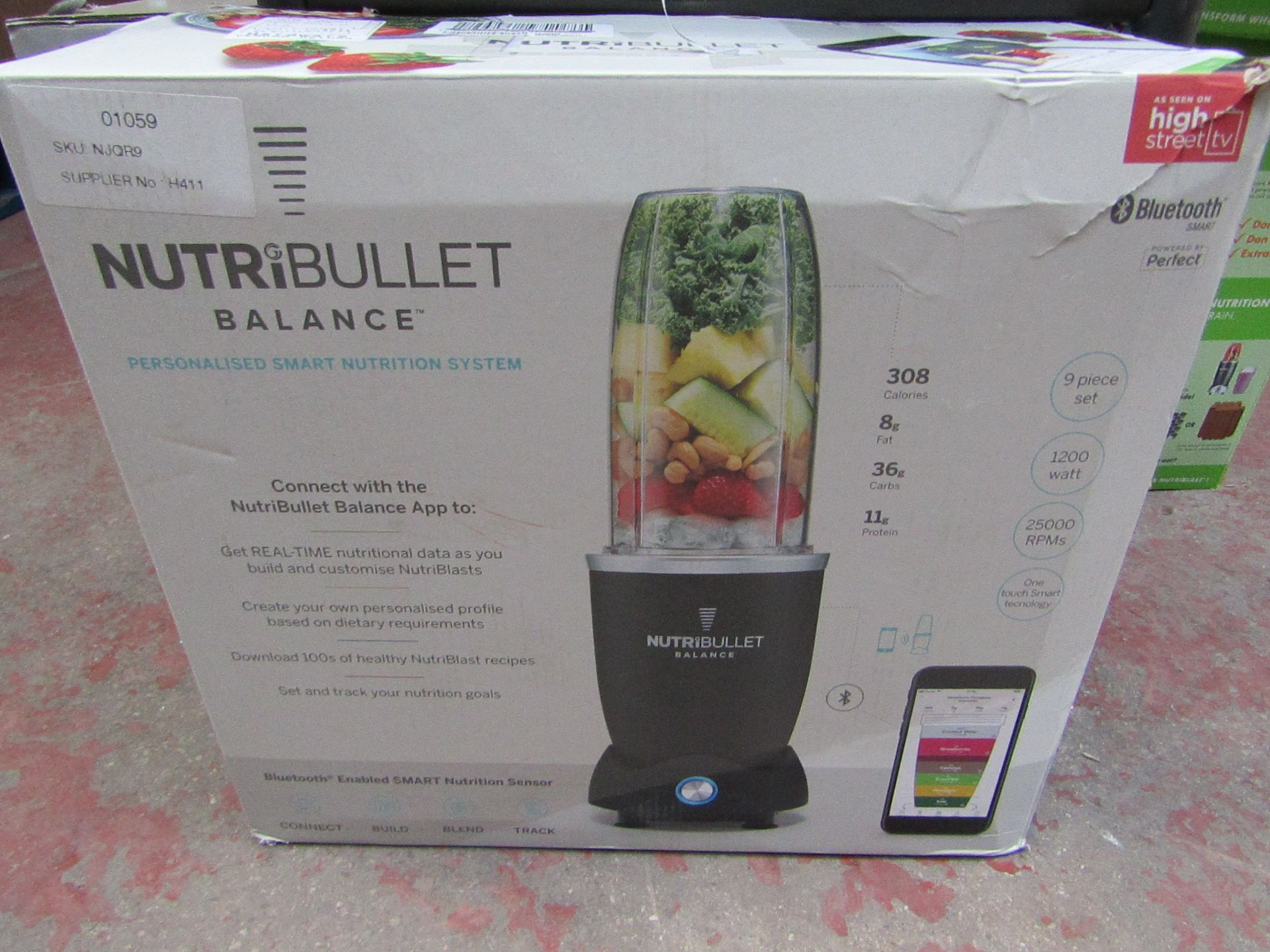   1X   NUTRIBULLET BALANCE   UNCHECKED AND BOXED   NO ONLINE RE-SALE   SKU C5060541512900   RRP £