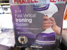 | 10X | VERTI STEAM IRONING SYSTEM | ALL CUSTOMER RETURNS | UNCHECKED AND BOXED | NO ONLINE RESALE |