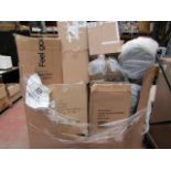   1X   PALLET OF SALVAGE APPROX 30 - 35 ITEMS BEING, NUTRIBULLETS, SOUP CHEFS, PRESSURE COOKERS,