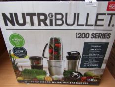 | 1X | NUTRI BULLET 1200 SERIES | UNCHECKED AND BOXED | NO ONLINE RESALE | SKU C5060191464758 |
