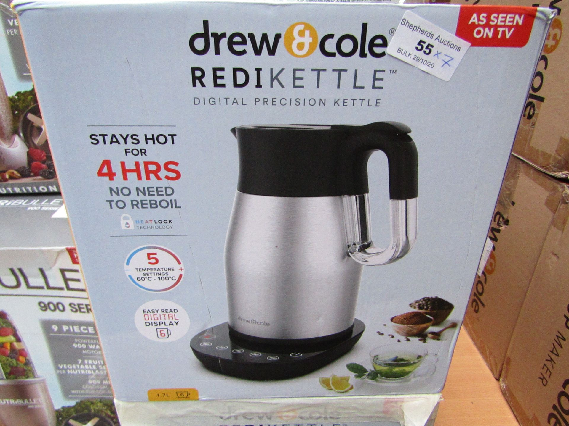   7X   DREW AND COLE REDI KETTLE   UNCHECKED AND BOXED   NO ONLINE RESALE   SKU C5060541513587   RRP