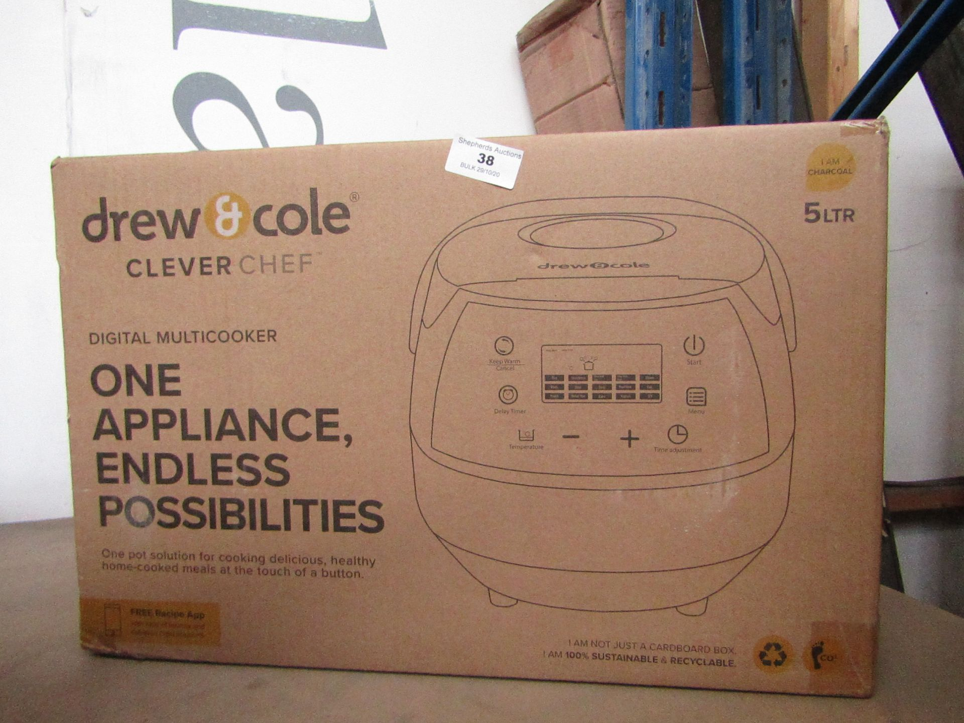 | 1X | DREW AND COLE CLEVER CHEF | UNCHECKED AND BOXED | NO ONLINE RESALE | SKU - | RRP £69.99 |