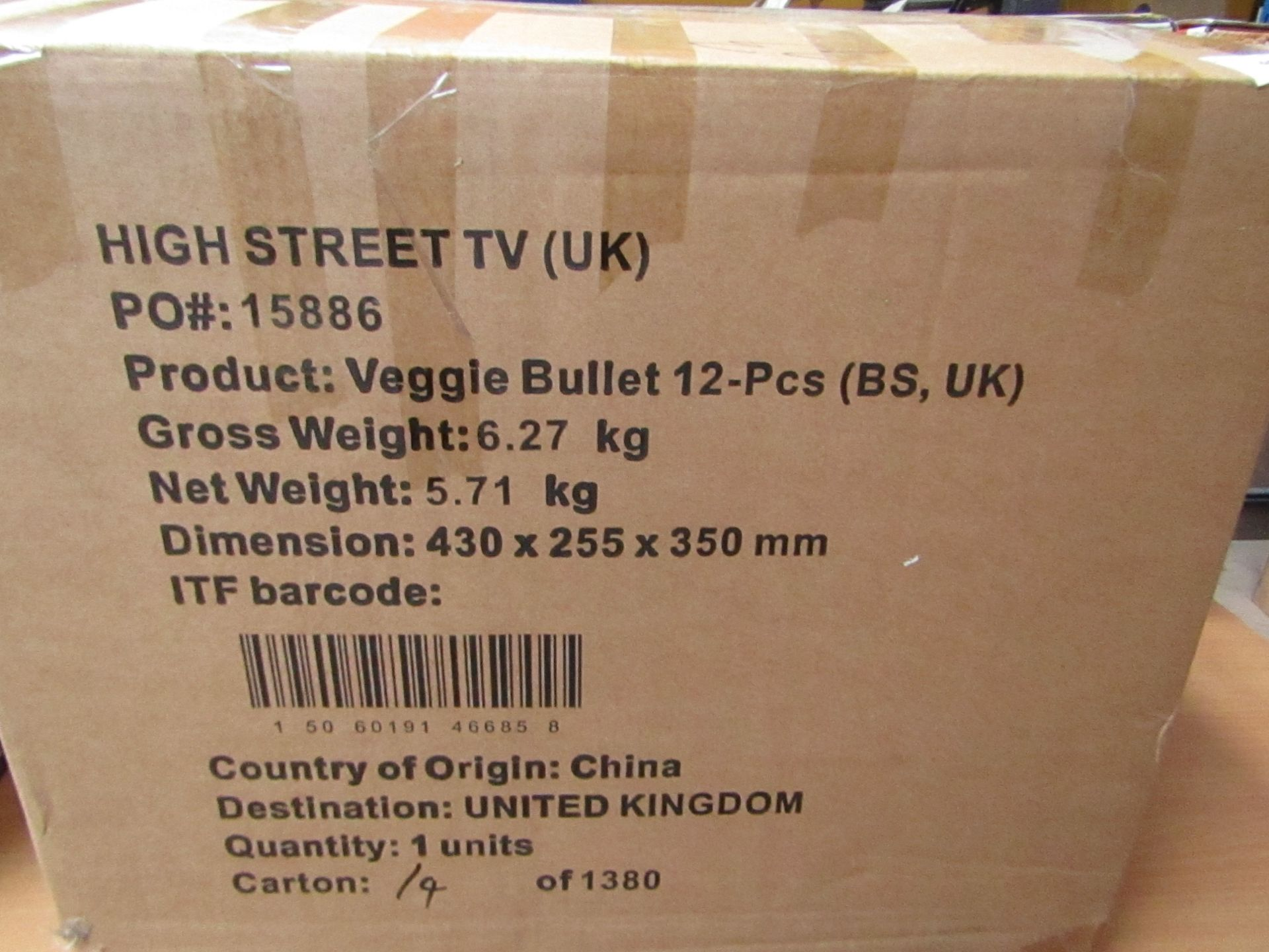 | 1X | VEGGIE BULLET | UNCHECKED AND BOXED | NO ONLINE RE-SALE | SKU - | RRP - | TOTAL LOT RRP - |