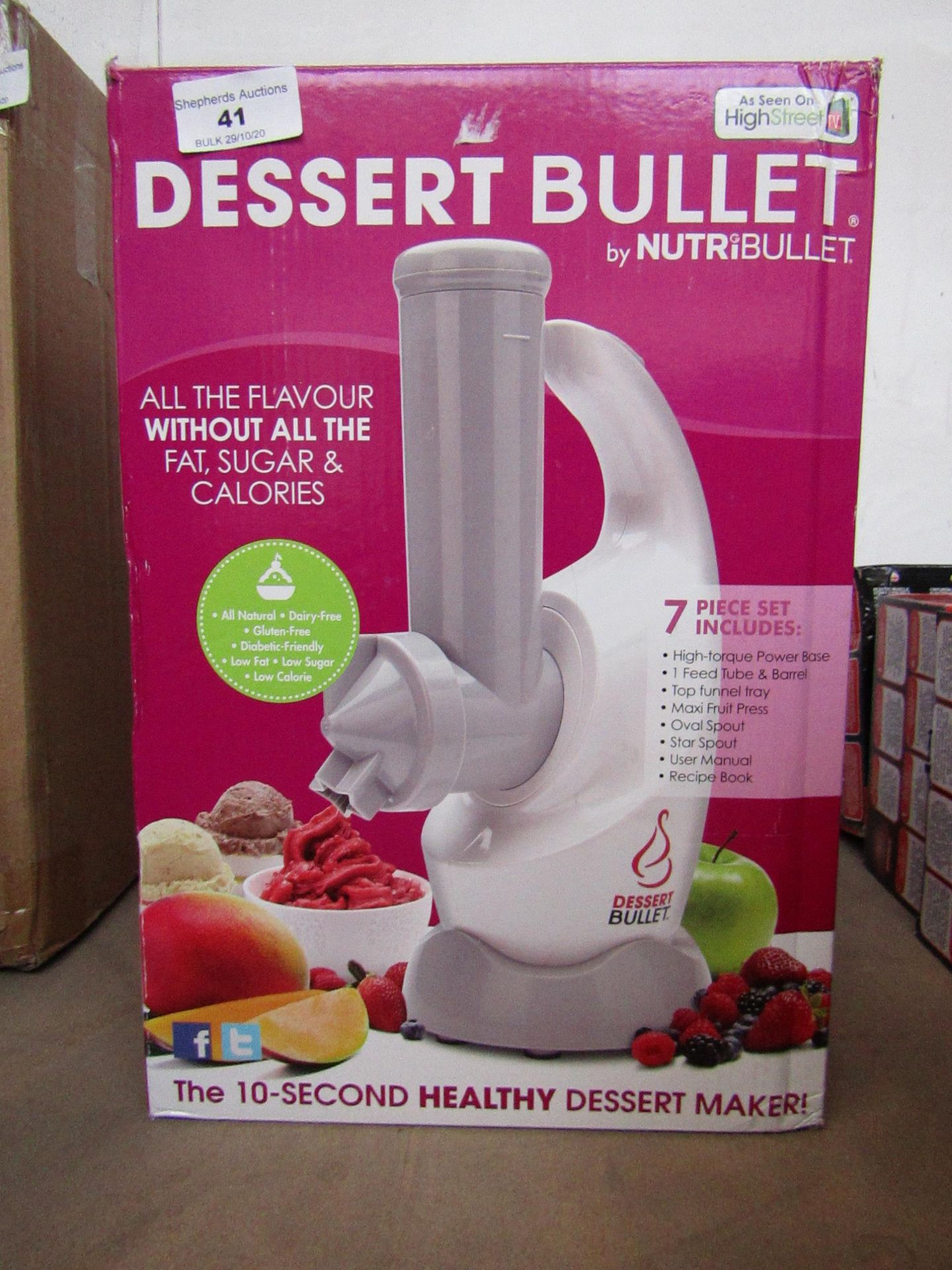   2X   DESSERT BULLET BY NUTRIBULLET   UNCHECKED AND BOXED   NO ONLINE RE-SALE   SKU